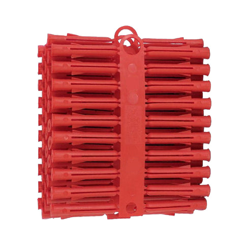 100 x Red Wall Raw Plugs Expansion Fixings <br> for No.6 - 10 Screws