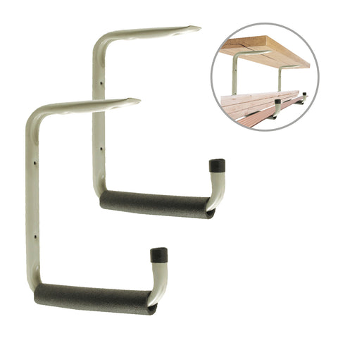 2 x Giant Heavy Duty 415mm Storage Hooks with Shelf Support Bracket