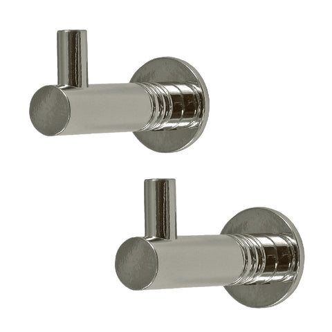Polished Chrome Modern Metal Tap Coat Hooks<br><br>