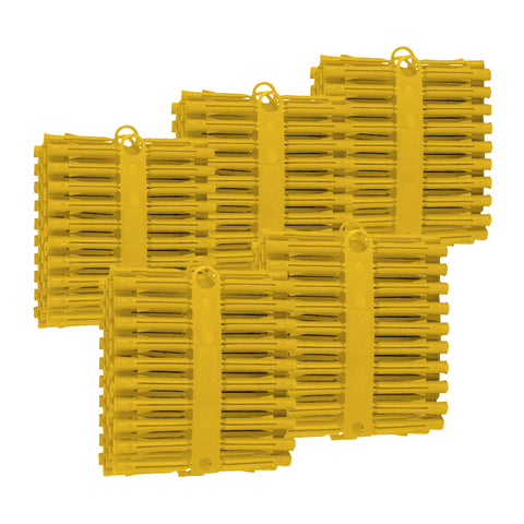 Yellow Wall Raw Plugs Expansion Fixings <br> for No.4 - 8 Screws