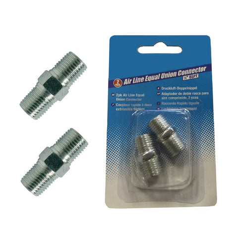 2 x Air Line 1/4 Equal Union BSPT Connectors<br><br>