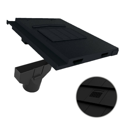 Black Roof Tile Vent & Pipe Adapter for Marley Modern & Mini Stonewold