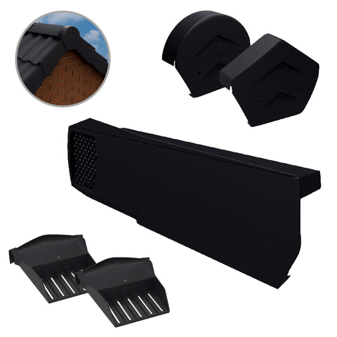 Black Dry Verge Kit Universally Handed, Easy Fit System