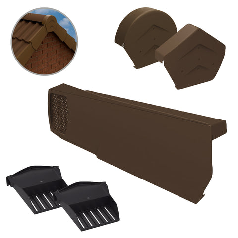 Brown Dry Verge Kit Universally Handed, Easy Fit System