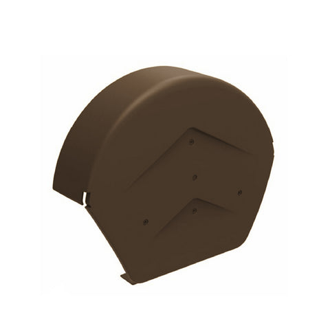 Brown Rounded Ridge End Cap for Dry Verge Systems<br><br>