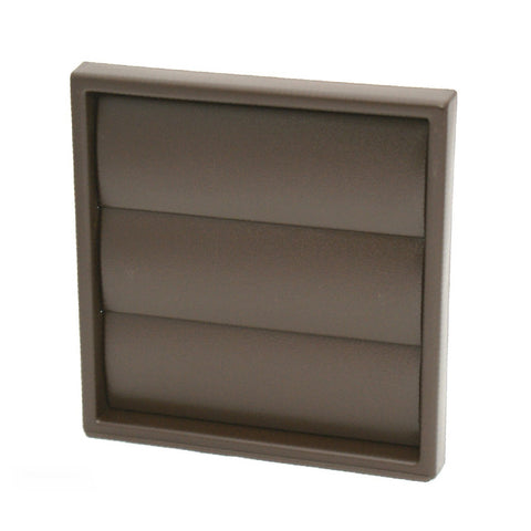 Brown Gravity Flap Air Vent & Back Draught Shutter 4 Inch