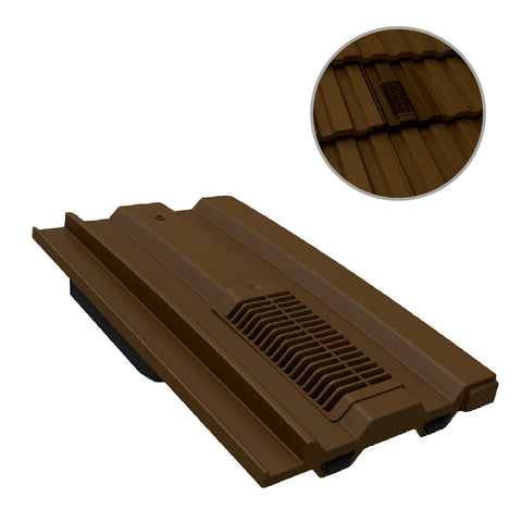 Dark Brown Mini Castellated Roof Tile Vent for Marley Redland Sandtoft