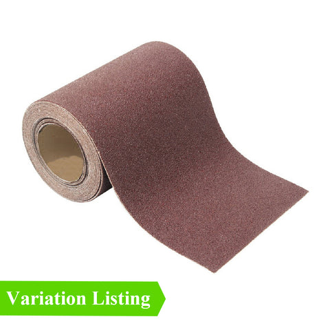 Sandpaper Aluminium Oxide Roll, 115mm x 10 Meters <br>Grit Grade Options