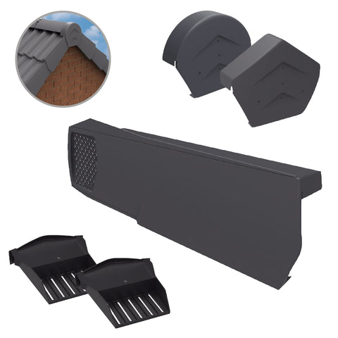 Grey Dry Verge Kit Universally Handed, Easy Fit System