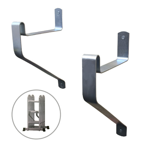 2 x Ladder Storage Hooks, Wall Mounted Brackets<br><br>