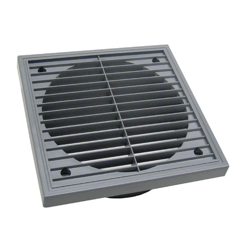 Large Grey Extractor Fan Air Vent Louvre Grille for 6 Inch Ducting