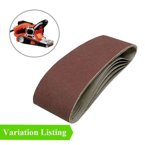 Sanding Belts<br>Size: 75 x 457mm<br>Menu Options