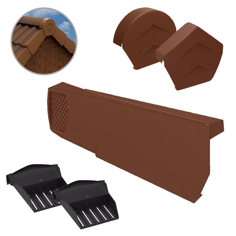 Terracotta Dry Verge Kit Universally Handed, Easy Fit System