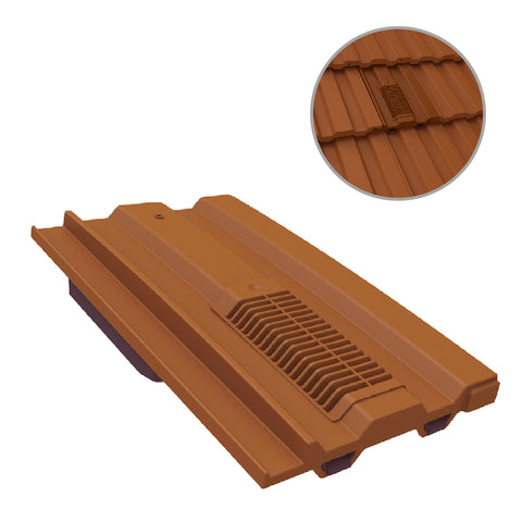 Terracotta Castellated Roof Tile Vent for Marley Redland Sandtoft