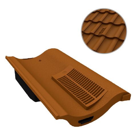 Terracotta Single Pantile Roof Tile Vent  / Marley Redland Sandtoft