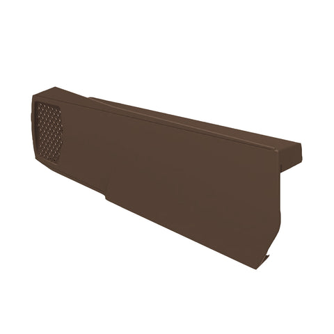 Brown Dry Verges, Universally Handed Units for Gable Apex Roof Tiles