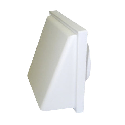 White Hooded Extractor Fan Air Vent Cowl for 4 Inch Ducting