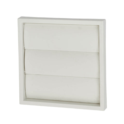 White Extractor Fan Air Vent Gravity Flap for 4 Inch Ducting
