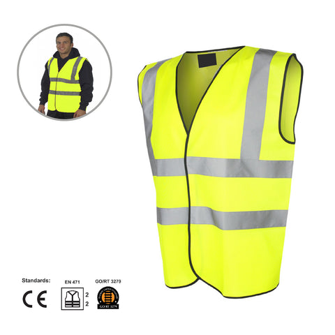 Reflective Large Warning Triangle Sign & Safety Vest<br><br>