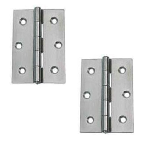 1 x Pair of 3 Inch (75mm) Steel Butt Door Hinges <br><br>