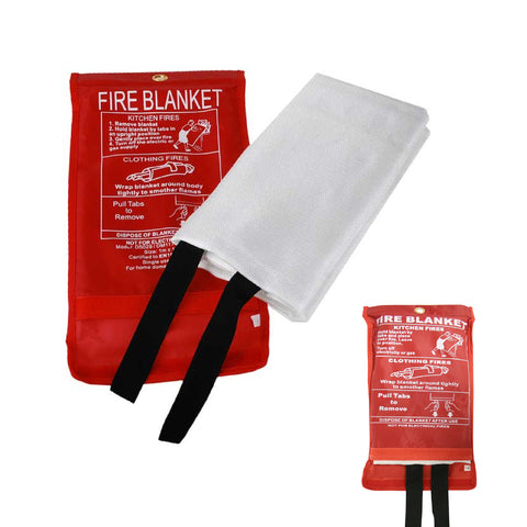1m X 1m Large Fire Safety Blanket Quick Release Strap