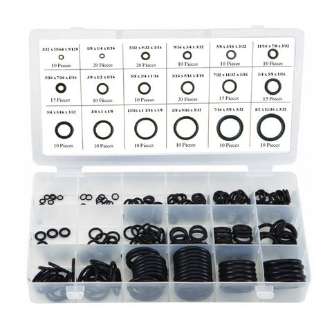 225 x Assorted Imperial Nitrile O-Ring Washers<br><br>