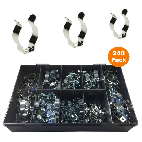 240 x Assorted Narrow Base Tool Spring Clips<br><br>