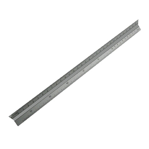 Aluminium 300mm Tri Scale Ruler for Engineers & Architects