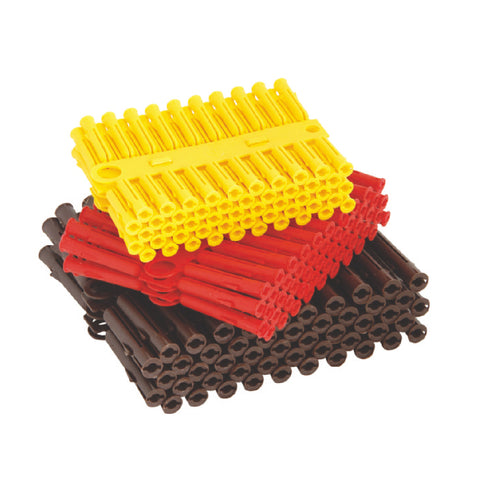 300 x Brown, Red & Yellow Wall Raw Plugs Expansion Fixings