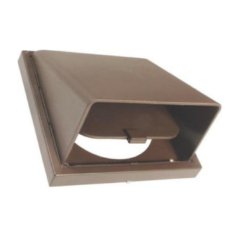 Brown Hooded Extractor Fan Air Vent Cowl for 4 Inch Ducting