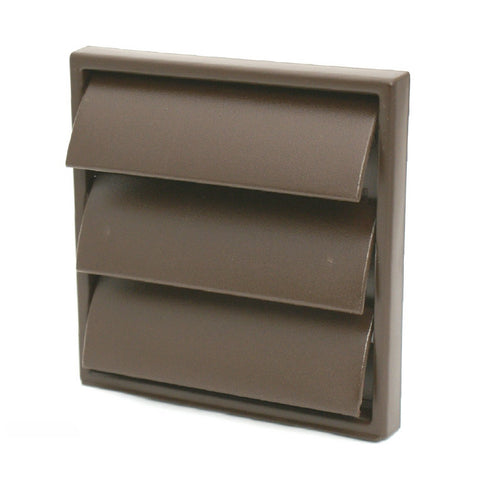 Brown Extractor Fan Air Vent Gravity Flap for 4 Inch Ducting