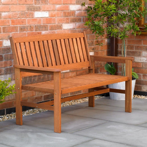 Hardwood 2 Seater Wooden 4ft Garden Bench<br><br>
