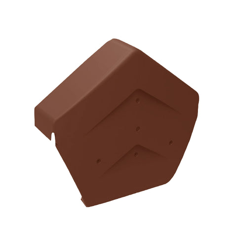 Terracotta Angled Ridge End Cap for Dry Verge Systems<br><br>