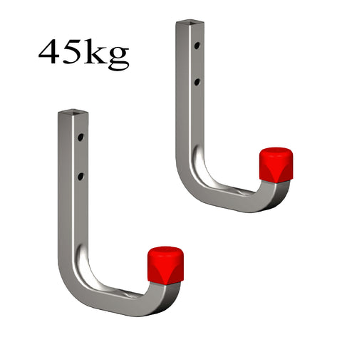 2 x 80mm Storage Wall Hooks 45kg Galvanised Steel<br><br>