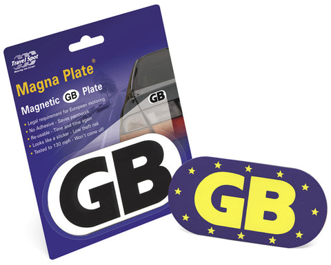 2 x Magnetic GB Euro Badges Travel Plate Sticker<br><br>