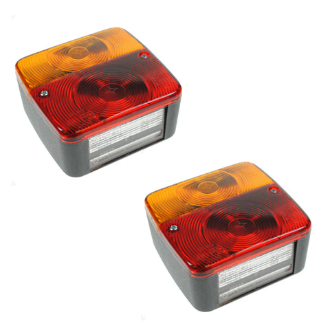 2 x Trailer Tail Rear Lights 4 Function Light Cluster<br><br>