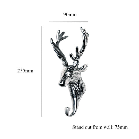 Stags Head Chrome Hat & Coat Hooks <br><br>
