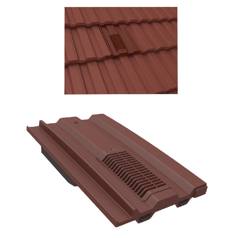 Antique Red Mini Castellated Roof Tile Vent for Marley Redland Sandtoft