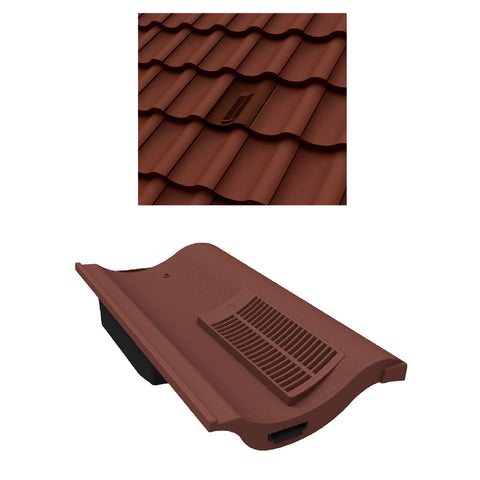 Antique Red Single Pantile Roof Tile Vent  / Marley Redland Sandtoft