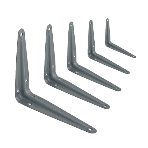 10 x Grey Metal London Shelf Support Brackets <br> Menu Options