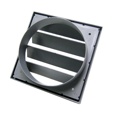 Large Grey Extractor Fan Air Vent Gravity Flaps for 6 Inch Ducting
