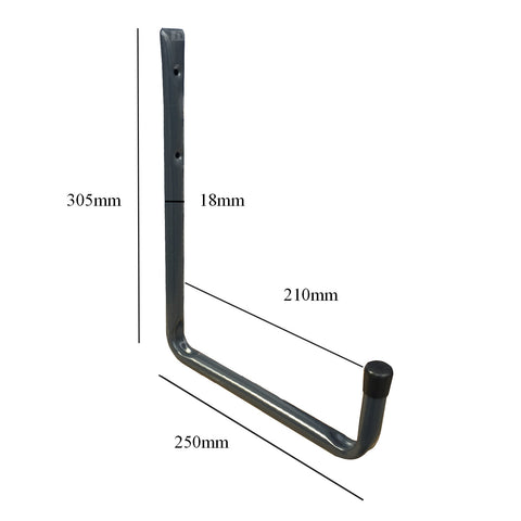 2 x Wall Mounted 250mm Utility Storage Hooks<br><br>