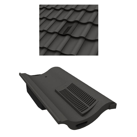 Grey Single Pantile Roof Tile Vent  / Marley Redland Sandtoft