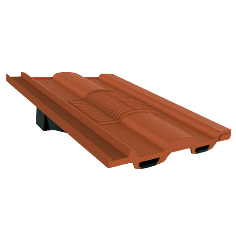 Terracotta Castellated Roof Tile Vent & Adapter for Marley Ludlow Redland