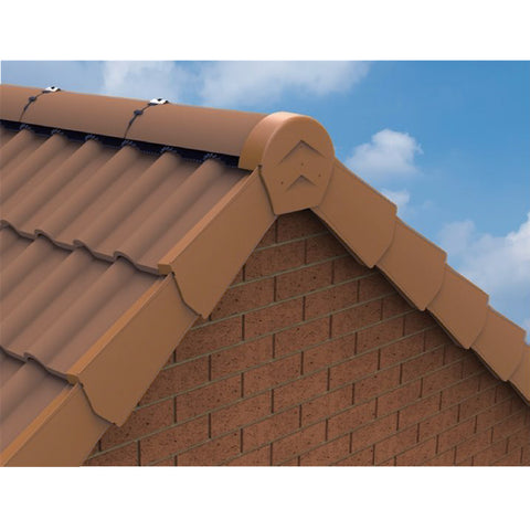 Terracotta Dry Verges, Universally Handed Units for Gable Apex Roof Tiles