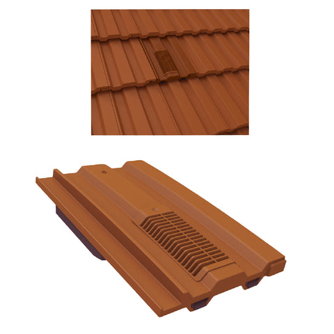 Terracotta Mini Castellated Roof Tile Vent Marley