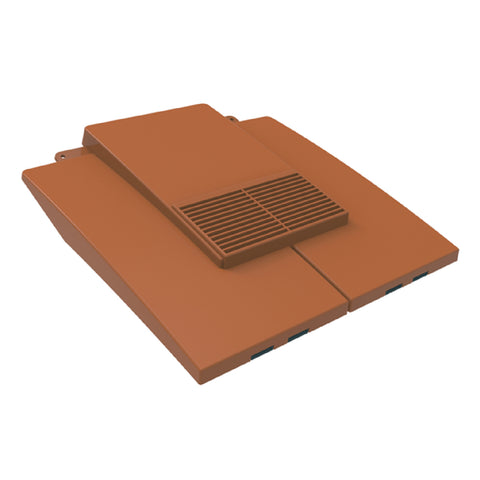 Terracotta Plain In-line Roof Tile Vent & Pipe Adapter for Concrete and Clay Tiles