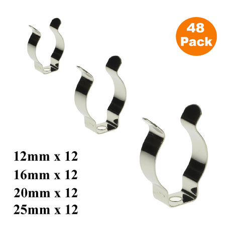 48 x Assorted Narrow Base Tool Spring Terry Clips<br><br>