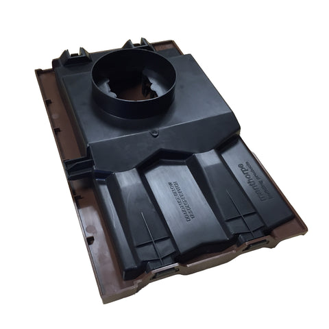 Brown Single Pantile Roof Tile Vent  / Marley Redland Sandtoft