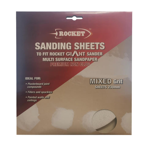 15 x Hook and Loop Mixed Grit 230mm Dry Wall Sanding Sheets